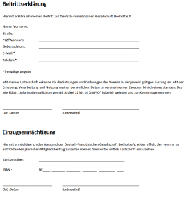 Screenshot Beitrittserklärung